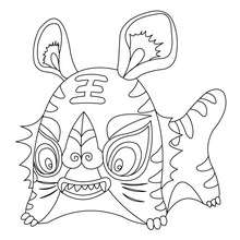 Coloriage : Tigre Kawaii