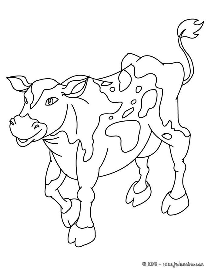 Coloriages Tête De Vache Fr Hellokids Com