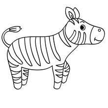 Coloriages Coloriage D Un Zebre Dans La Savane Fr