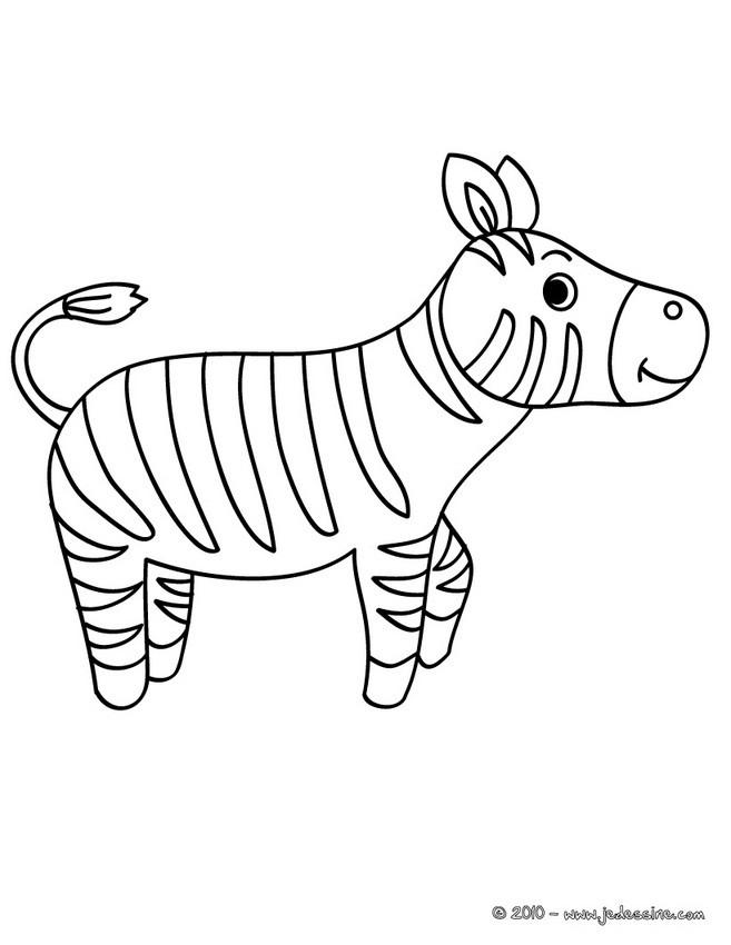 Coloriages coloriage d 39 un b b zebre - Zebre coloriage ...