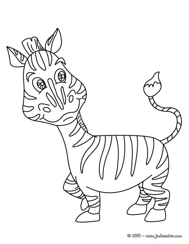 Coloriages Coloriage Dun Zebre Dans La Savane Fr