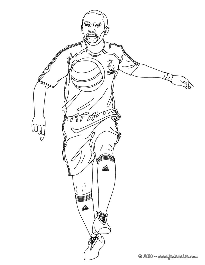 Coloriages thierry henry - Coloriage messi ...