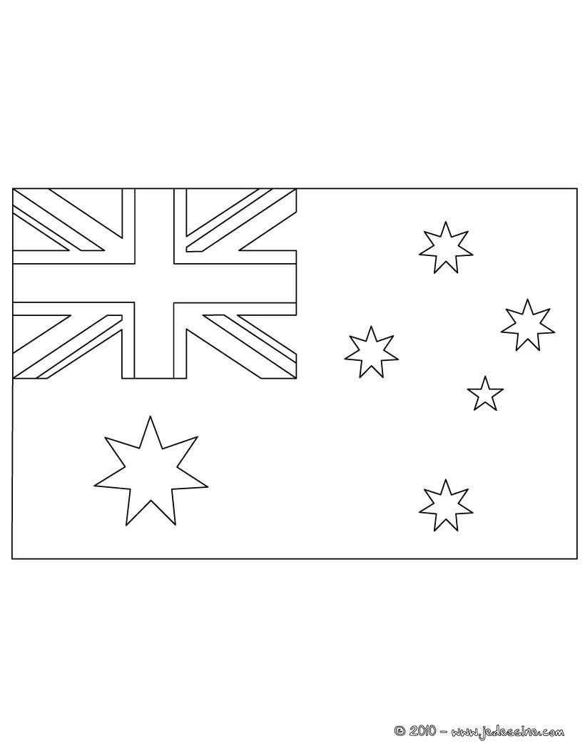 Coloriage du drapeau d AUSTRALIE