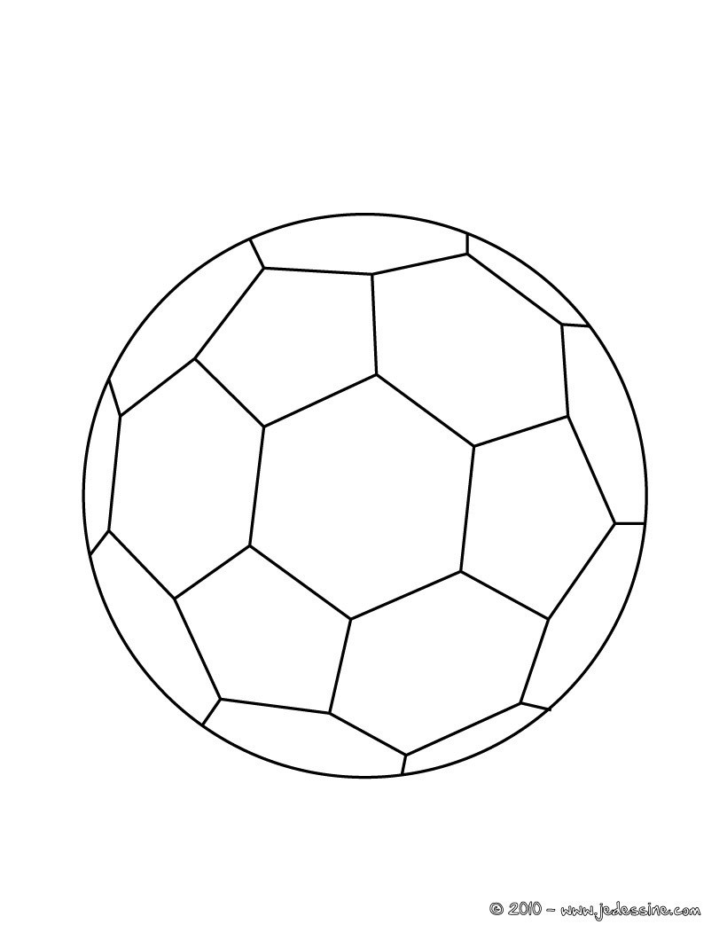 Coloriage d un BALLON de FOOT