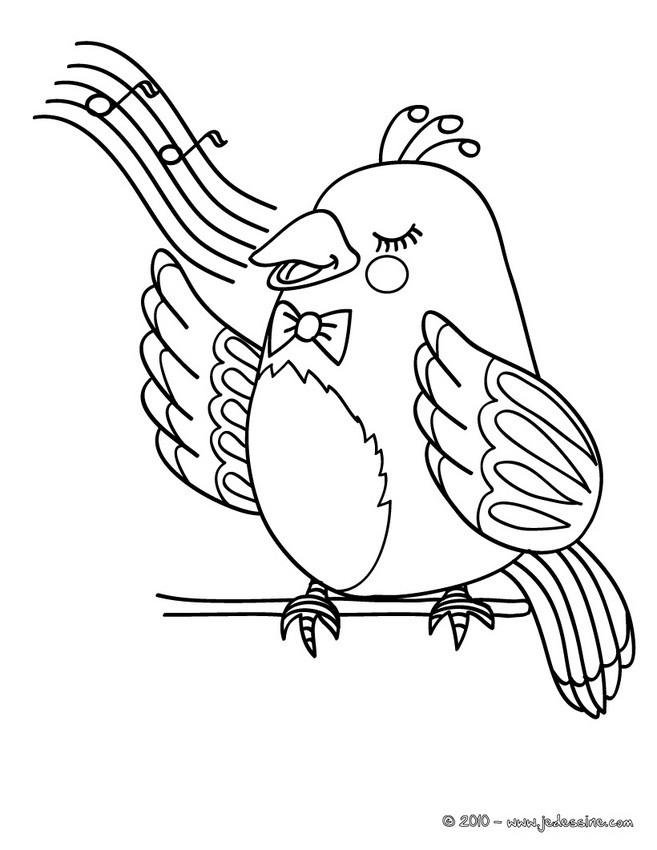 Oiseau dessin simple the image kid has it - Oiseau coloriage ...