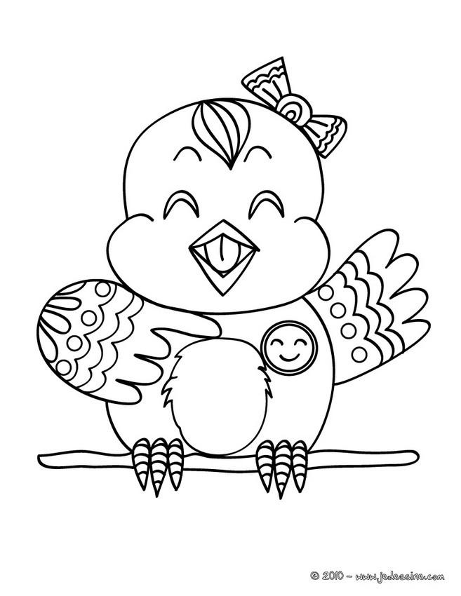 Coloriages coloriage gratuit d 39 une oiselle - Dessin a imprimer oiseau ...