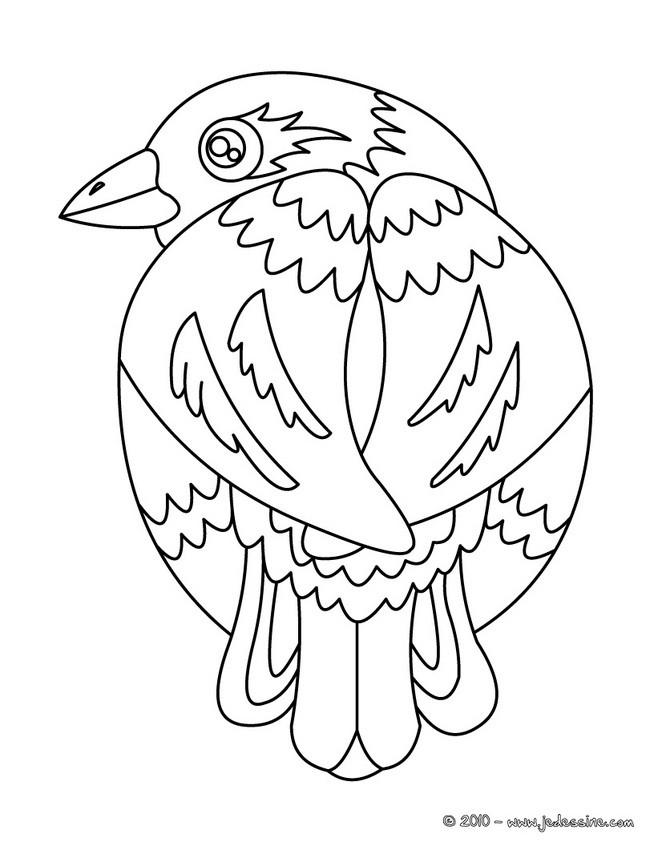 Coloriages coloriage d 39 un oiseau imprimer - Dessin d oiseau ...