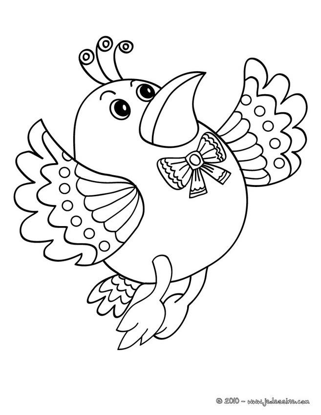 Coloriages maitre oiseau à colorier - fr.hellokids.com