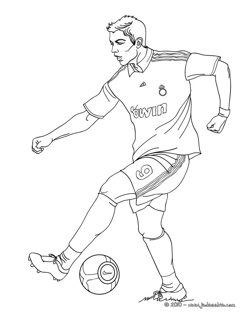 Coloriages Cristiano Ronaldo Cr7