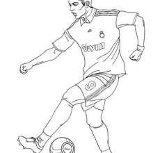 Coloriage : Cristiano Ronaldo, CR7