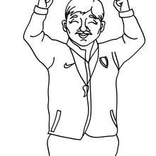Coloriage d'un COACH de foot - Coloriage - Coloriage SPORT - Coloriage COUPE DU MONDE DE FOOTBALL - Coloriage FOOTBALL