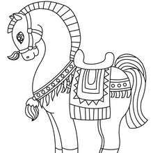 Coloriage : Cheval arabe