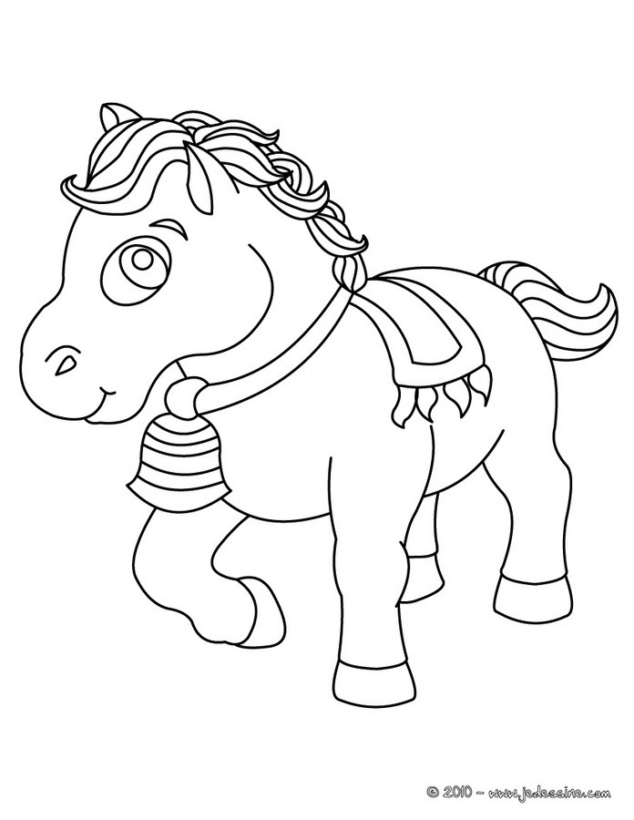 Coloriages cheval de parade - Coloriage cheval sauvage ...