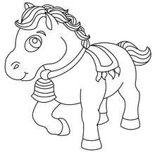 Coloriage : Cheval de parade
