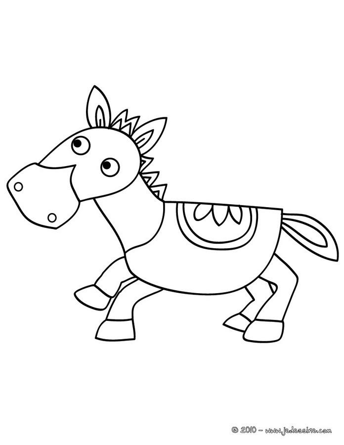 Coloriages cheval en bois - Chevaux a colorier et a imprimer ...