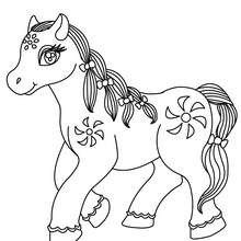 Coloriage : Cheval Kawaii