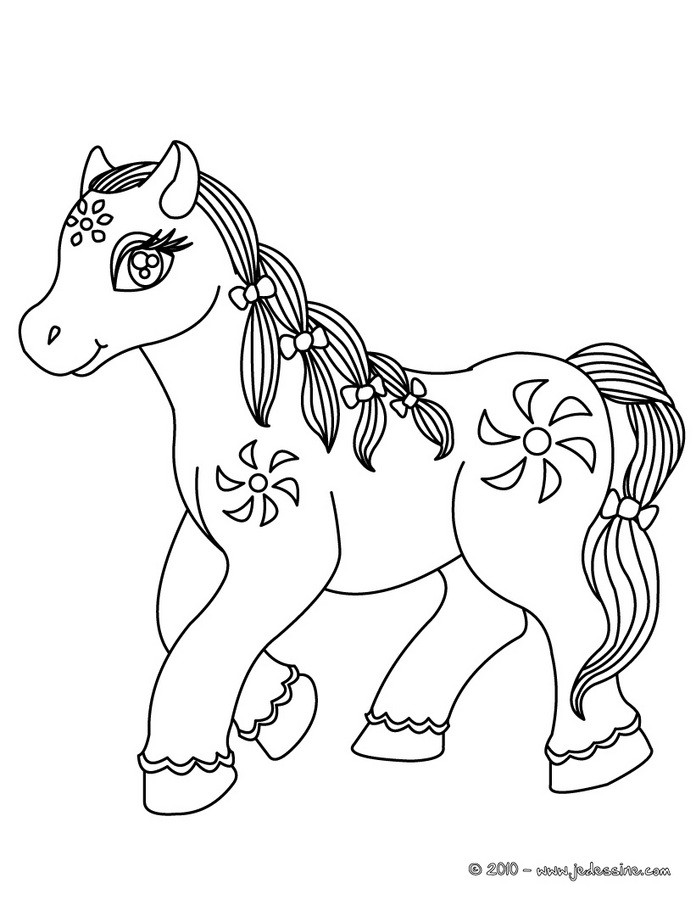 Coloriages cheval kawaii - Cheval coloriage en ligne ...