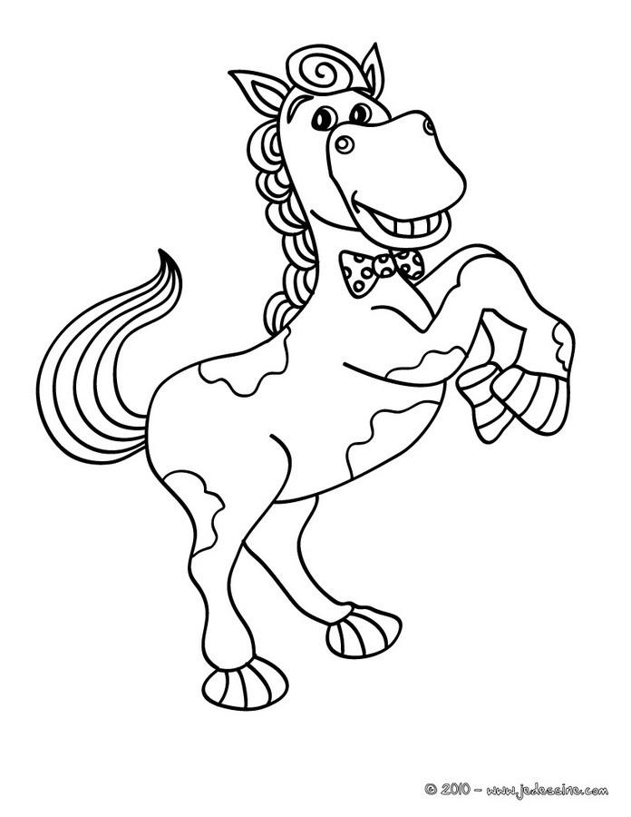 Coloriages cheval qui se cabre - Coloriages cheval ...