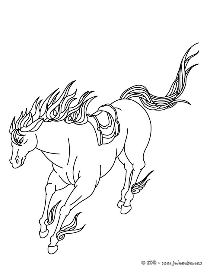 dessin cheval mustang
