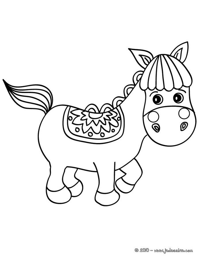 Coloriages poney shetland - Coloriage poney en ligne ...