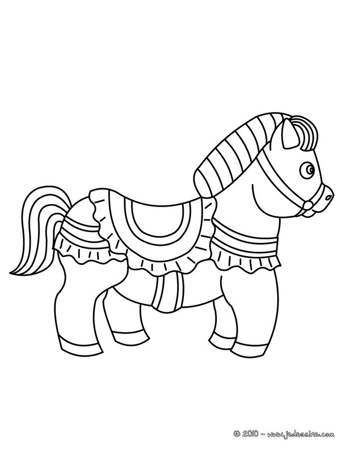 Coloriages poney habill - Coloriage poney ...