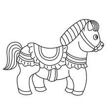 Coloriage : Poney habillé