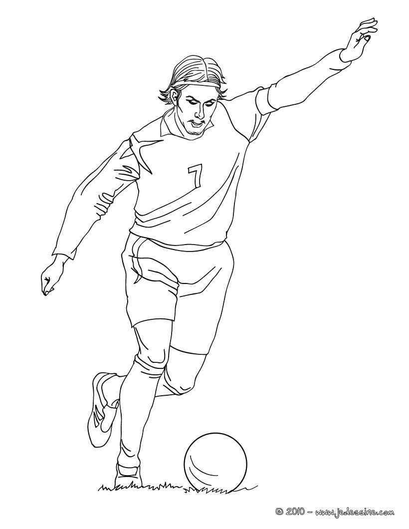 Dessin De Footballeur coloriage joueurs de foot - coloriages - coloriage à imprimer