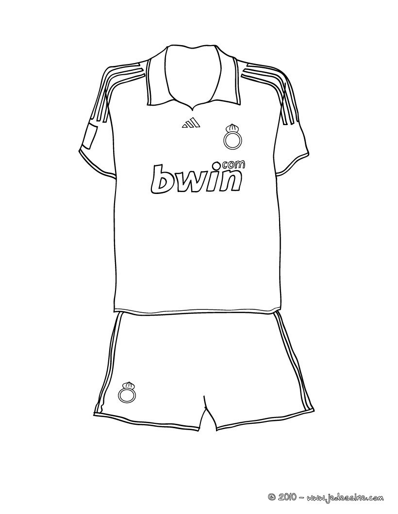 Coloriage d'un MAILLOT de FOOT