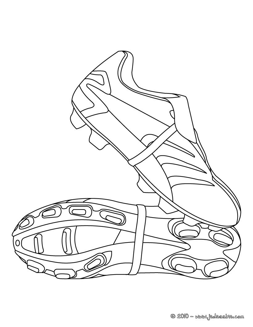 Coloriage de CHAUSSURES de FOOT