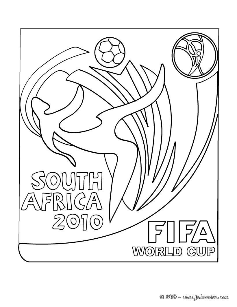 Coloriages logo de la coupe du monde de footbal 2010 en - Dessin en coupe ...