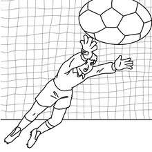 Coloriage d'un GARDIEN de BUT de football - Coloriage - Coloriage SPORT - Coloriage COUPE DU MONDE DE FOOTBALL - Coloriage FOOTBALL