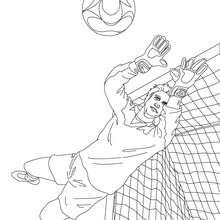 Gardien de BUT à colorier - Coloriage - Coloriage SPORT - Coloriage COUPE DU MONDE DE FOOTBALL - Coloriage FOOTBALL