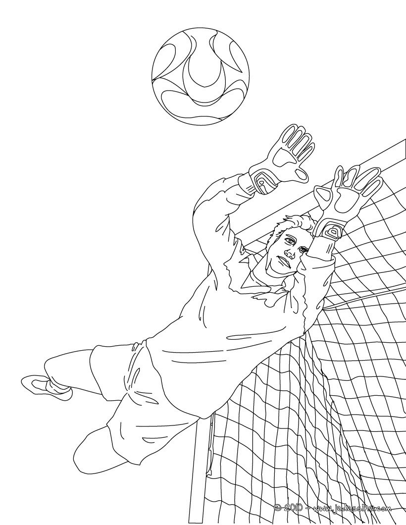 Coloriages gardien de but colorier - Coloriage footballeur ...