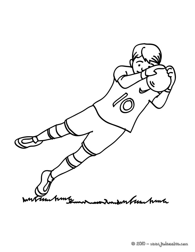 Coloriage d un GARDIEN de FOOT