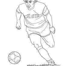 Coloriage DIEGO MARADONA