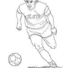 Coloriage : Diego Armando Maradona