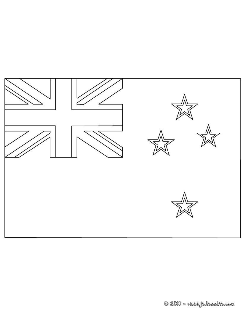 new zealand coloring pages - coloriages coloriage du drapeau de la nouvelle zelande