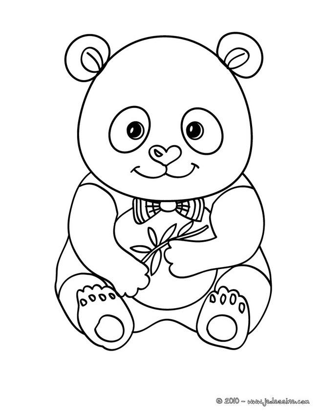 Coloriages coloriage d 39 un b b panda - Panda coloriage ...
