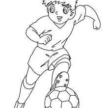 COloriage d'un joueur de foot Manga - Coloriage - Coloriage SPORT - Coloriage COUPE DU MONDE DE FOOTBALL - Coloriage FOOTBALL