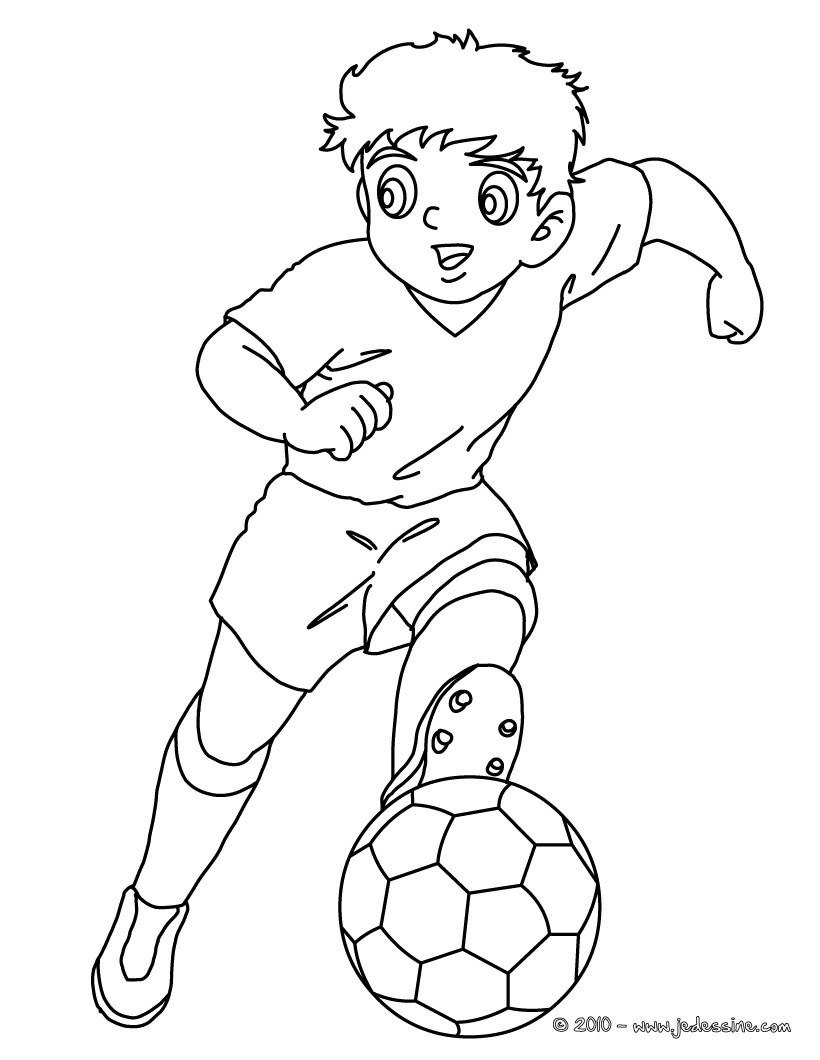 Coloriages Coloriage D Un Joueur De Foot Manga Fr