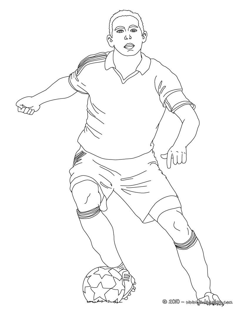 Coloriages joueur de foot colorier - Image de joueur de foot a imprimer ...