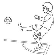 Coloriage d'un CORNER de football - Coloriage - Coloriage SPORT - Coloriage COUPE DU MONDE DE FOOTBALL - Coloriage FOOTBALL