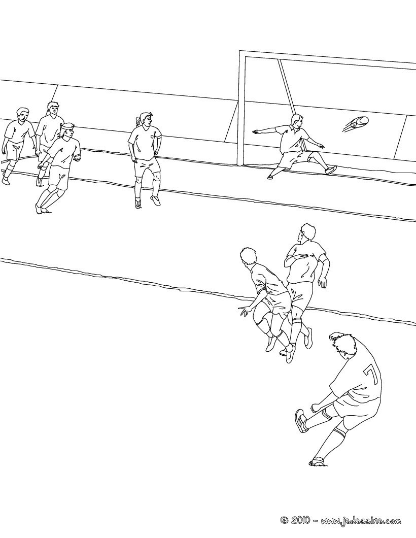 Coloriage Sport Foot.Coloriages Coloriage D Un Penalty De Foot Fr Hellokids Com
