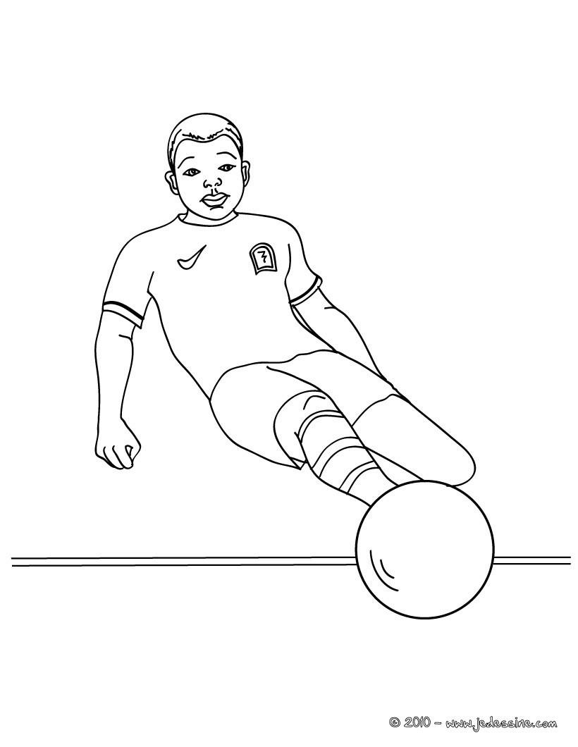 Coloriages joueur de foot imprimer - Image de joueur de foot a imprimer ...