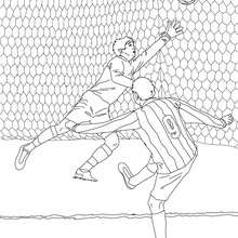 Coloriage d'un BUT de football - Coloriage - Coloriage SPORT - Coloriage COUPE DU MONDE DE FOOTBALL - Coloriage FOOTBALL