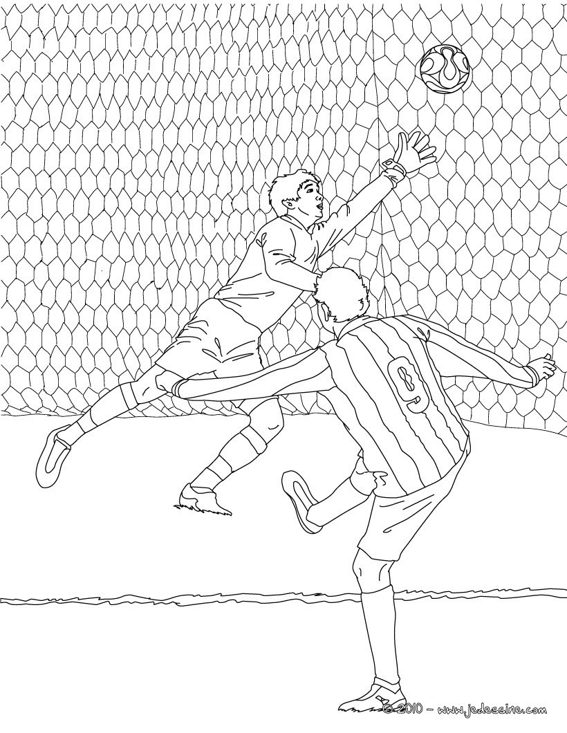 Coloriages coloriage d 39 un but de football - Coloriage a imprimer foot ...