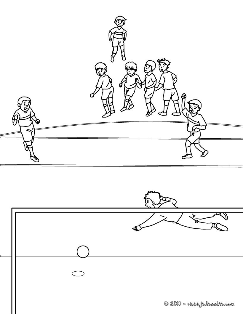 Coloriages coloriage d 39 un penalty de foot - Coloriage a imprimer foot ...