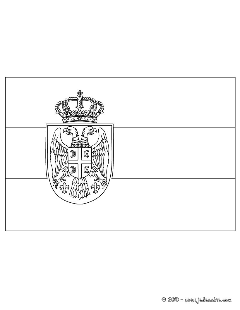Coloriages coloriage du drapeau de la serbie fr - Drapeau portugais a imprimer ...