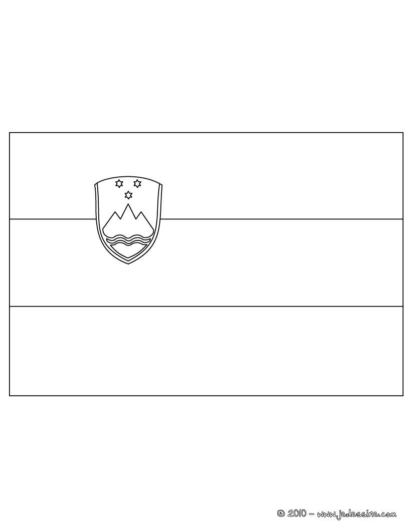 coloriage du drapeau de la slovenie - Drapeau Espagnol A Imprimer