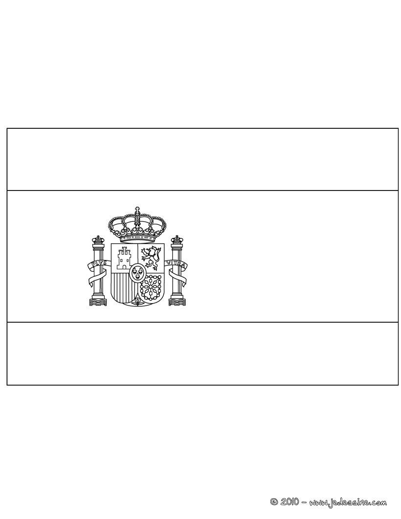 Coloriages coloriage du drapeau de l 39 espagne fr - Coloriage espagnol ...